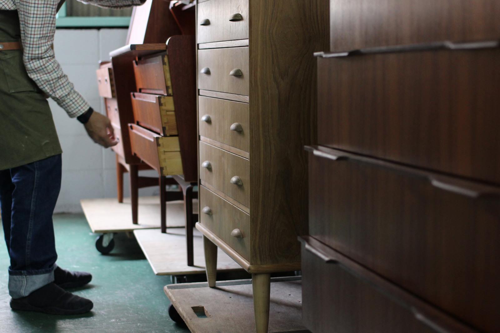 ヴィンテージ北欧家具の修復